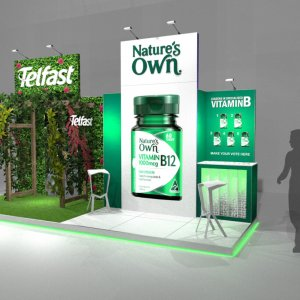 LED Screen Hire - Sanofi @ Green Cross Health Pharmacy Conference 2019 - Stand Render