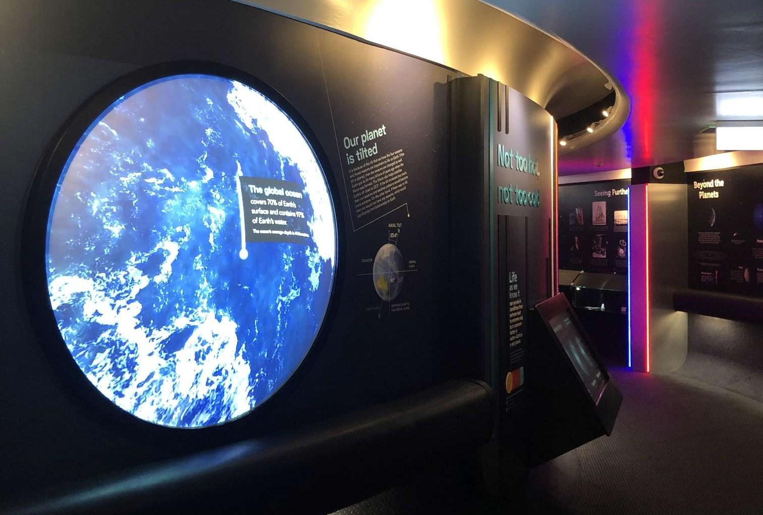 planetarium projection mapping globe exhibit